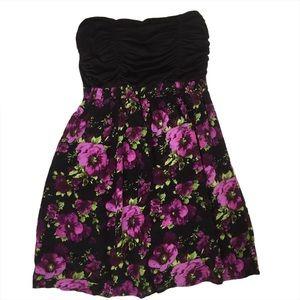Wet Seal Floral Print Strapless Dress Size XS